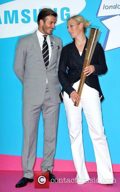 David Beckham and Zara Phillips 12