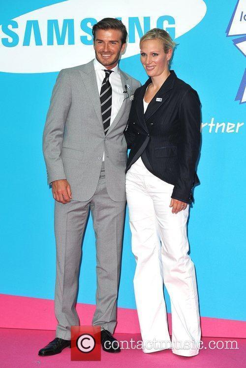 David Beckham and Zara Phillips 16