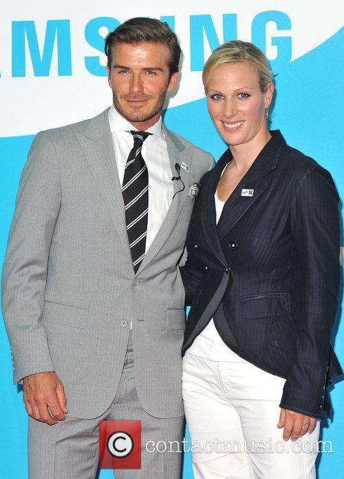 David Beckham and Zara Phillips 6