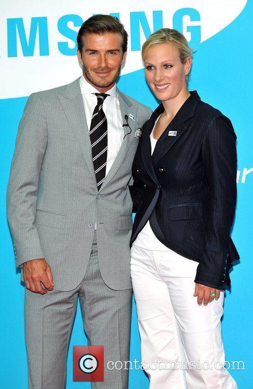 David Beckham and Zara Phillips 8