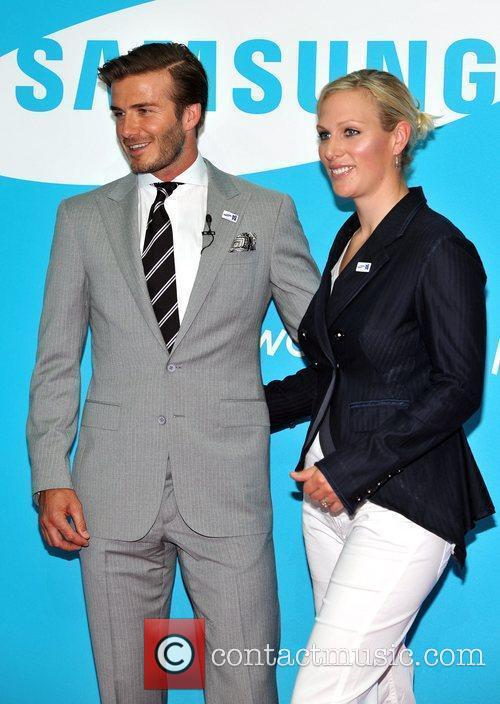 David Beckham and Zara Phillips 3