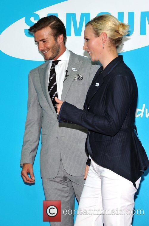 David Beckham and Zara Phillips 9