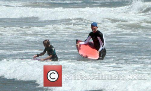 Bodyboarding on Malibu beach