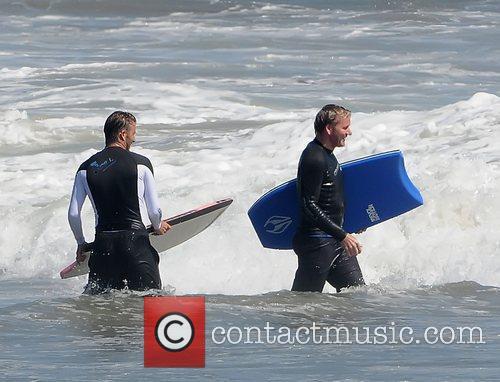 David Beckham and Gordon Ramsay  bodyboarding on...