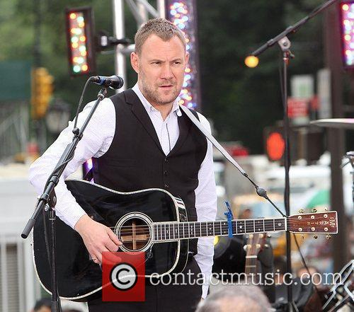 David Gray performing at the CBS Early Show...