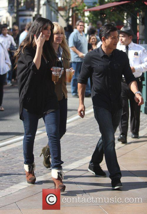 Brittny Gastineau and Mario Lopez,  on the...