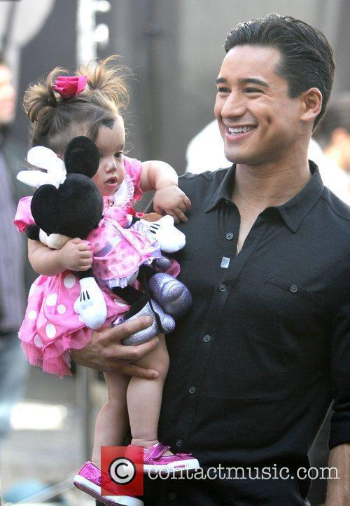 Mario Lopez and daughter Gia,  on the...