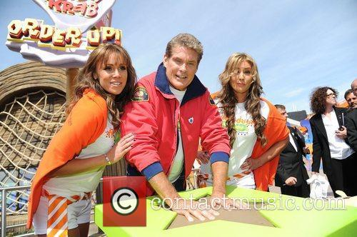 David Hasselhoff The launch of Nickelodeon Land at...
