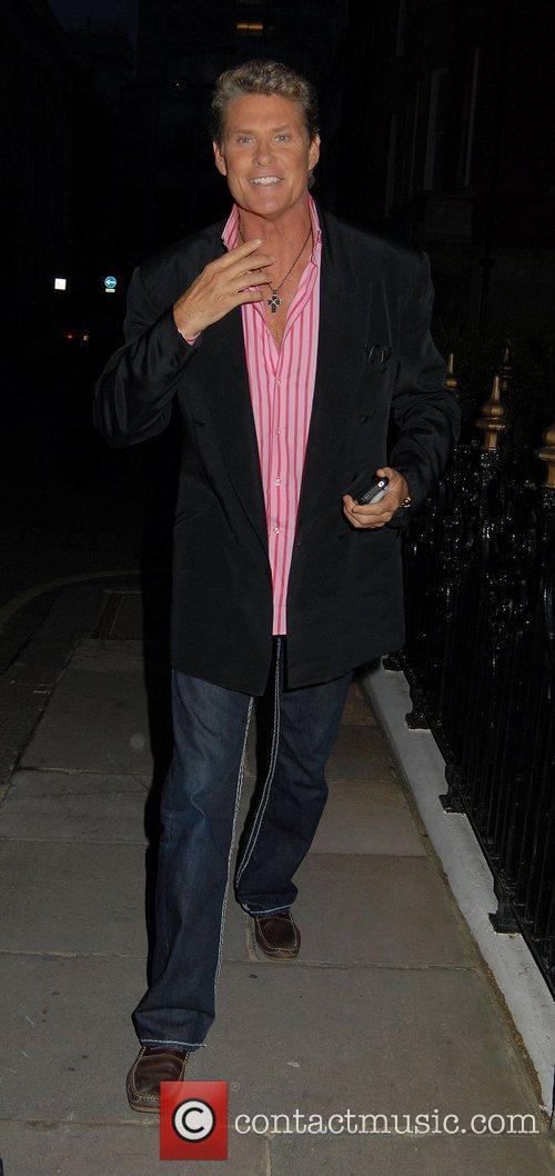 David Hasselhoff  arriving at his hotel London,...