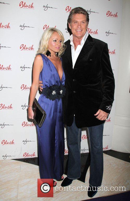 David Hasselhoff with girlfriend Hayley Roberts as he...