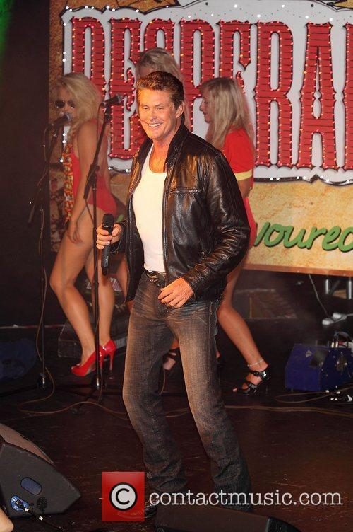 David Hasselhoff performing live at the Freshers Ball...