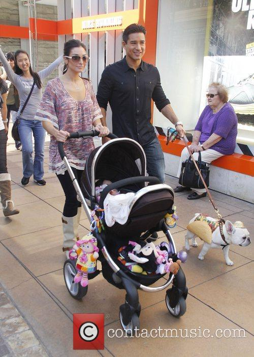 Courtney Laine Mazza, Mario Lopez and their daughter...