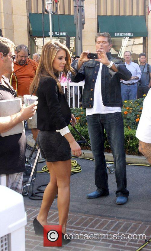 Maria Menounos and David Hasselhoff 2