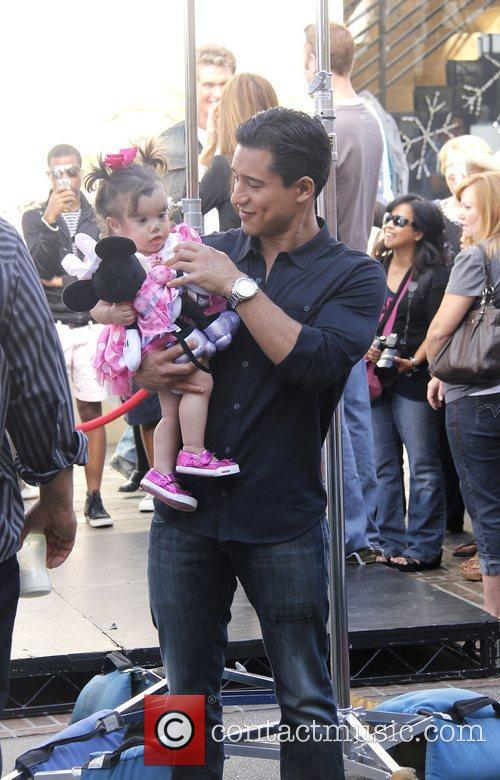 Mario Lopez and his daughter Gia on the...