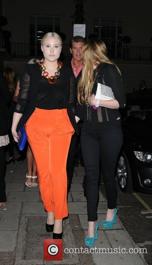 Hayley Hasselhoff, Taylor Ann Hasselhoff leaving the Theatre...