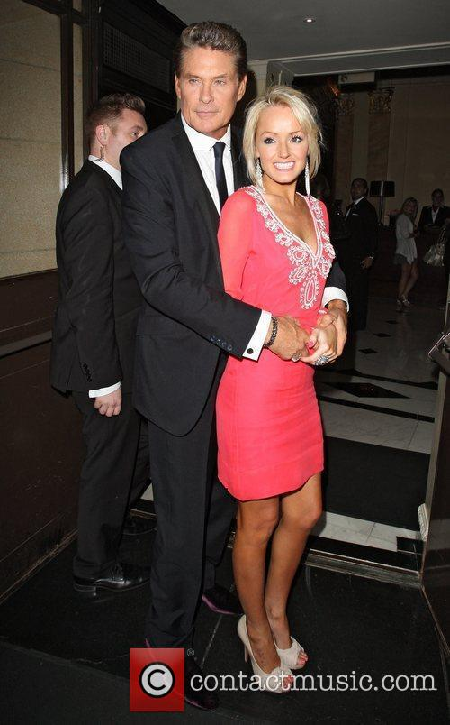 David Hasselhoff arrives with his girlfriend at The...