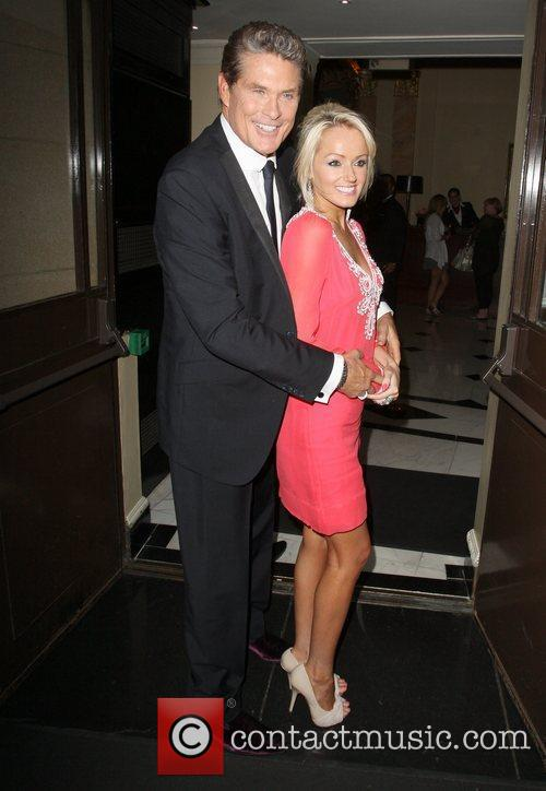 Hayley Roberts and David Hasselhoff David Hasselhoff arrives...