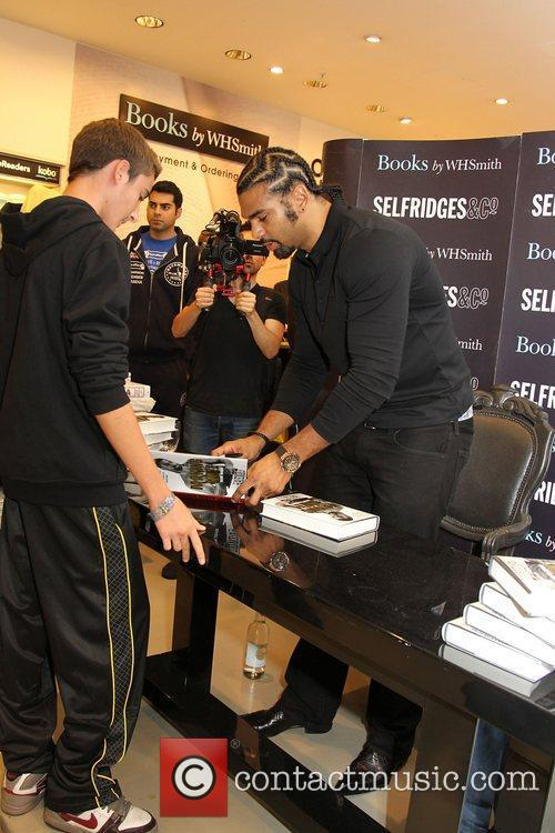 Signing copies of his new book 'Making Haye:...