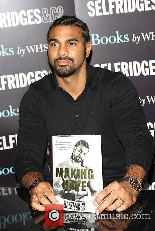 David Haye attends the book signing for 'Making...