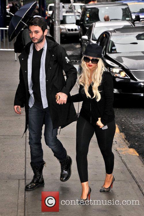 Matt Rutler and Christina Aguilera 'The Late Show...