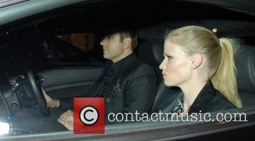 David Walliams and Lara Stone,  driving around...