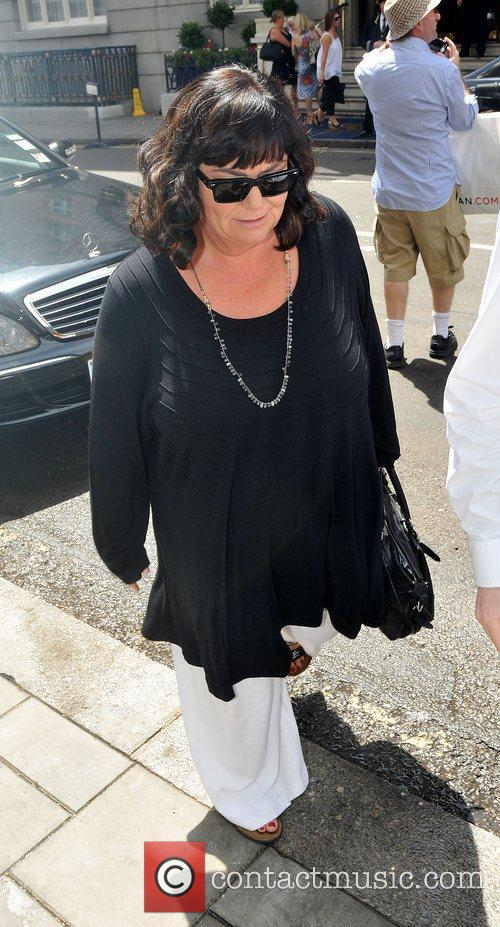 Dawn French out and about in central London...