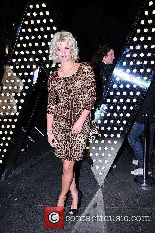 Pixie Geldof,  at the exhibition celebrating the...