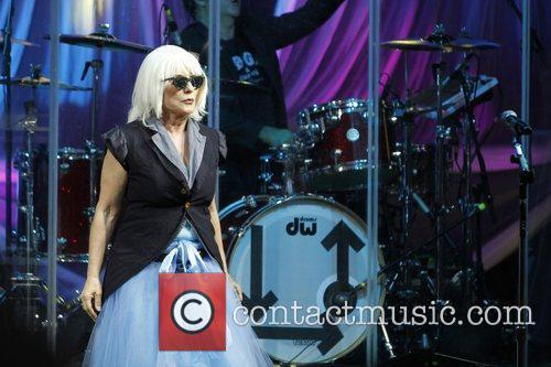 Debbie Harry of Blondie performing at Epsom Racecourse