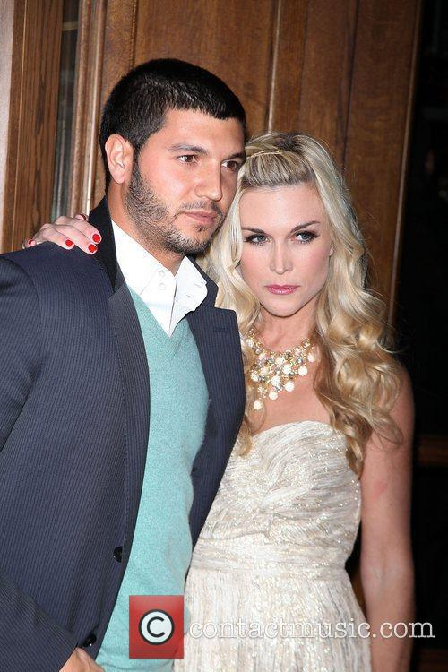 Brian Mazza (L) and Tinsley Mortimer  attends...