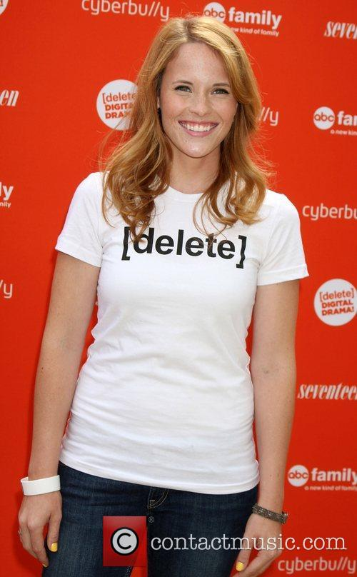Katie Leclerc arriving at the Delete Digital Drama...