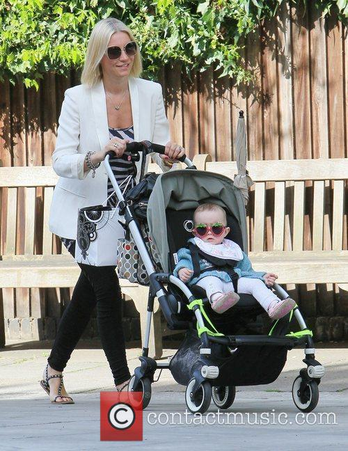 Denise Van Outen  out with her baby...