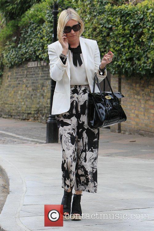 Denise van Outen  out walking near her...