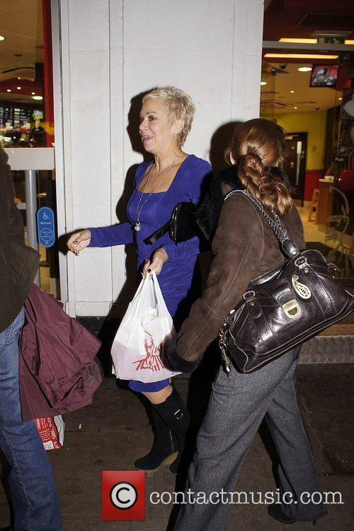 Denise Welch after buying a KFC in Piccadilly...