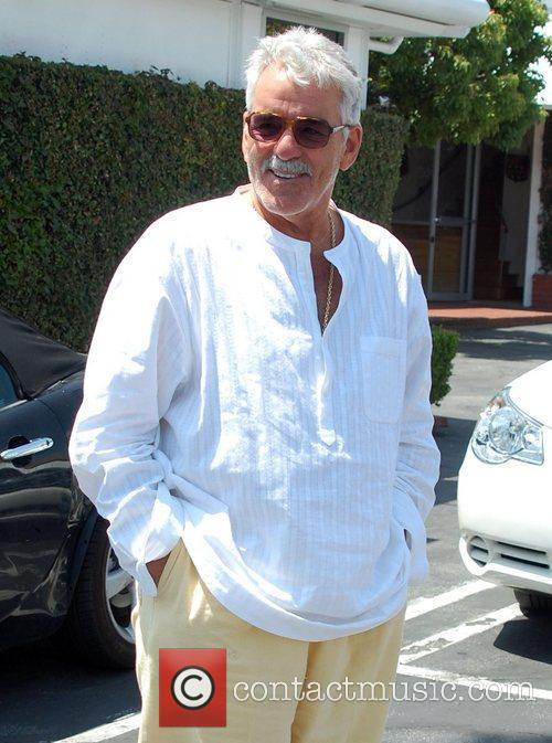Dennis Farina leaves Fred Segal in West Hollywood...