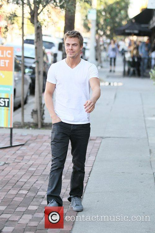 Derek Hough in good spirits out and about...