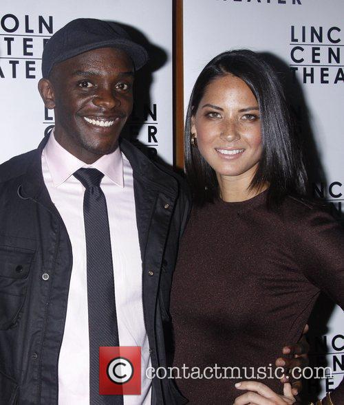 Chris Chalk and Olivia Munn Opening night after...