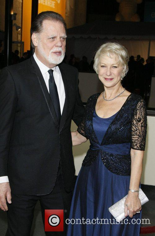 Taylor Hackford and his wife Dame Helen Mirren...