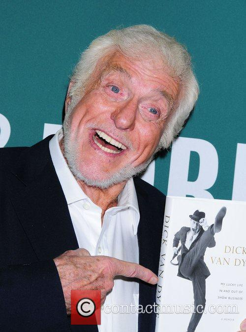 Dick Van Dyke at his book signing of...