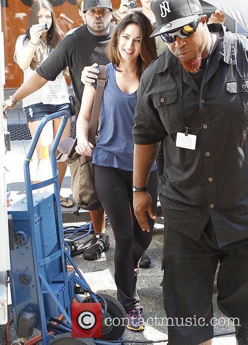 Megan Fox on the set of 'The Dictator'...