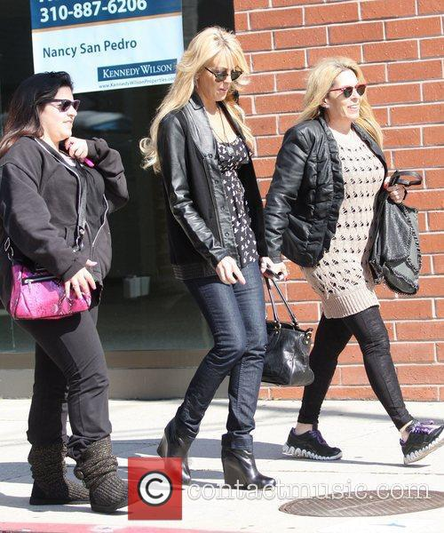 Dina Lohan shopping with friends in Beverly Hills...