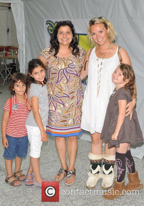Nina Wadia with her family and Charlie Brooks...