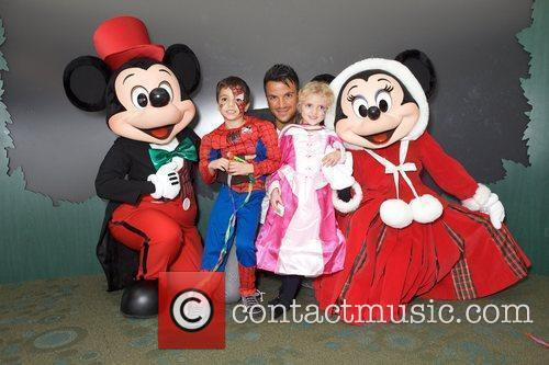 Peter Andre with Junior Andre and Princess Tiaamii...
