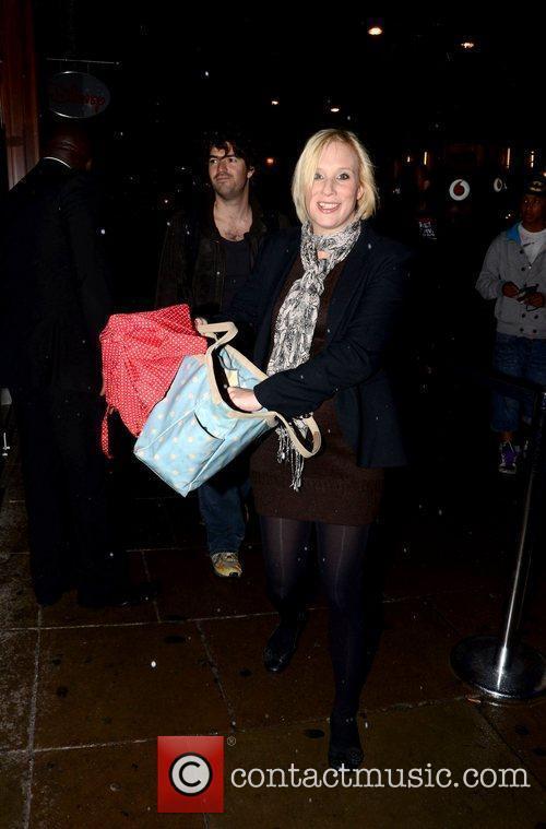 Kirsten O'Brien  leaving the Disney store on...