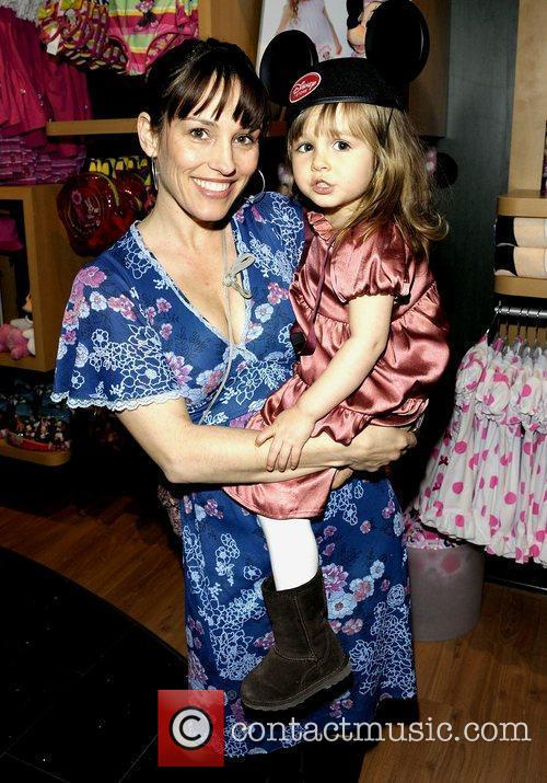 Actress Amy Jo Johnson and 2-year old daughter...