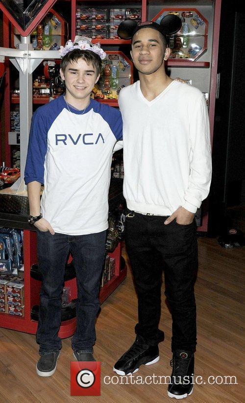 Dylan Everett and Demetrius Joyette  Disney Store...
