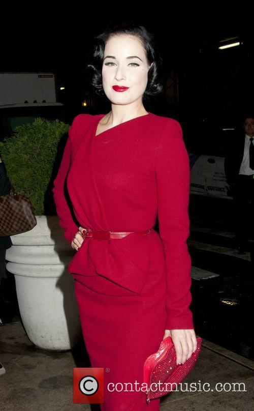 Dita Von Teese attends the New York premiere...
