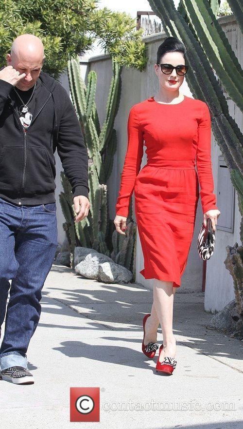 Dita Von Teese, Clutch and Fred Segal 9