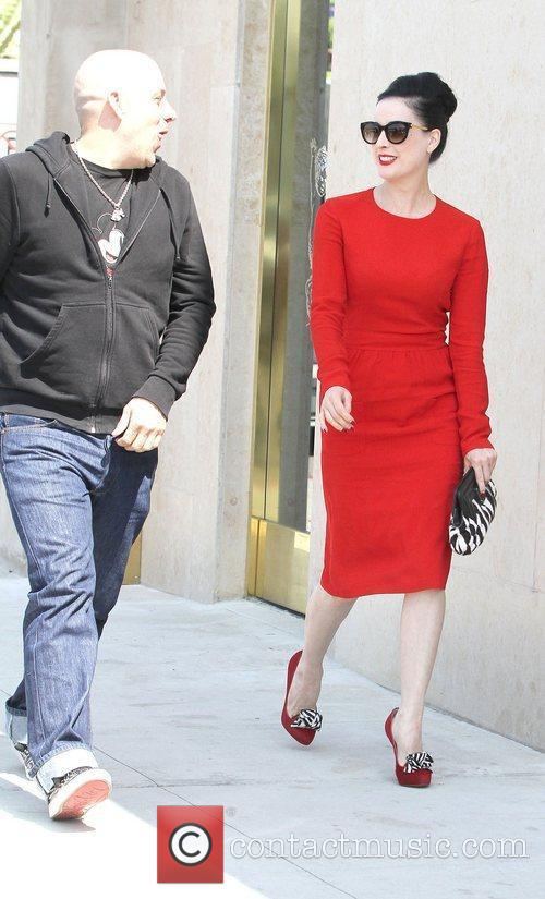 Dita Von Teese, Clutch and Fred Segal 14