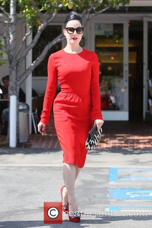 Dita Von Teese, Clutch and Fred Segal 1