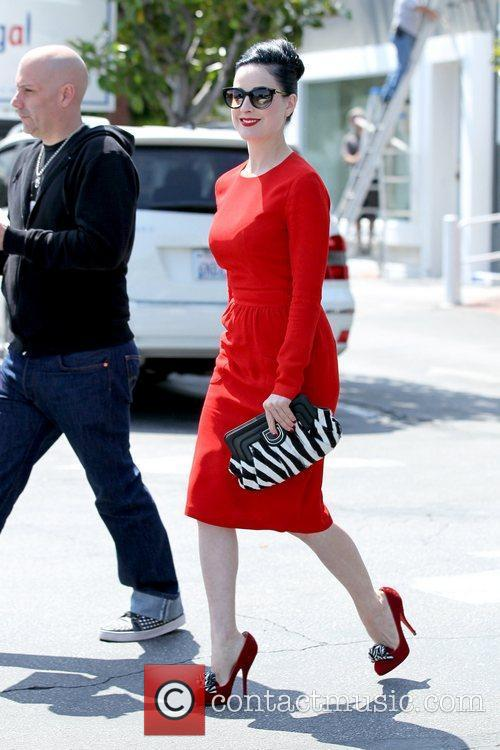 Dita Von Teese leaving Fred Segal carrying a...